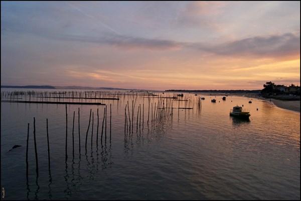 couleurs du soir sur le Bassin d'Arcachon