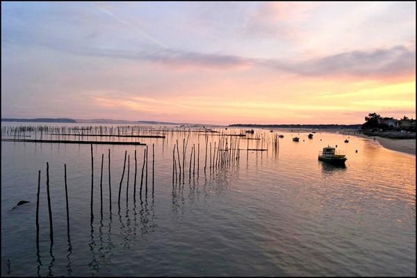 Bassin d'Arcachon - lever de soleil -